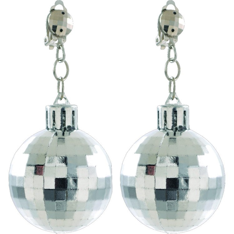 Amscan Disco 70'S Disco Ball Earrings