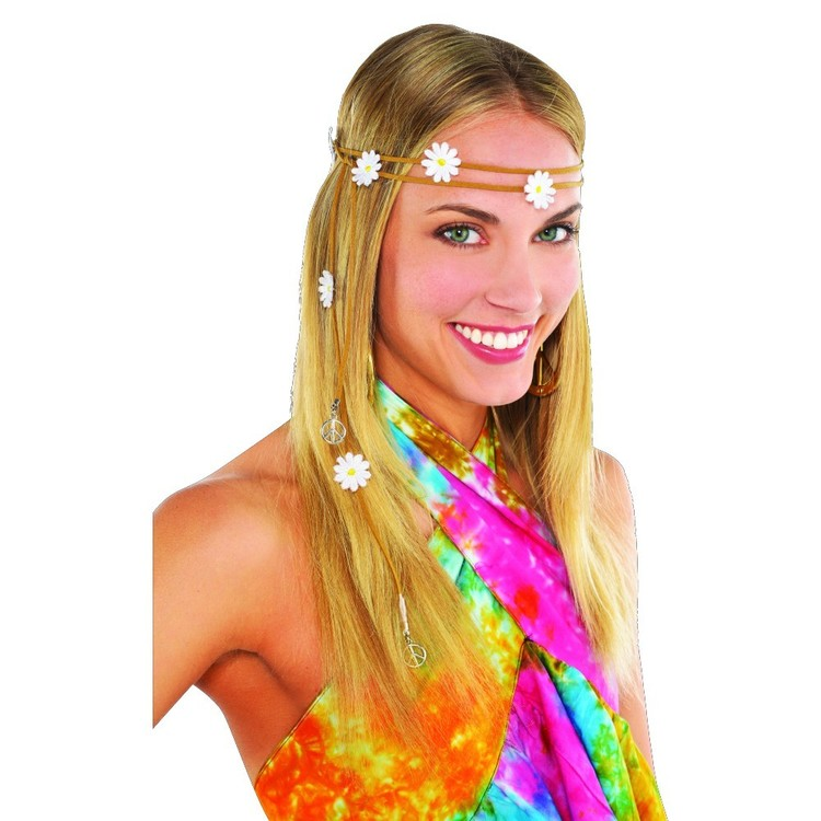 Amscan Groovy 60'S Flower Headband Multicoloured