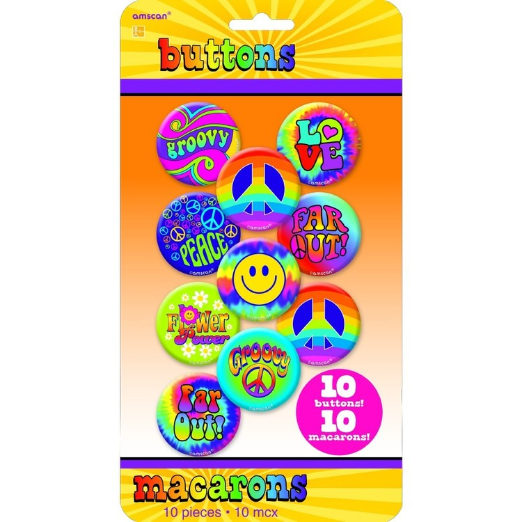 Amscan Groovy 60'S Feeling Groovy Buttons