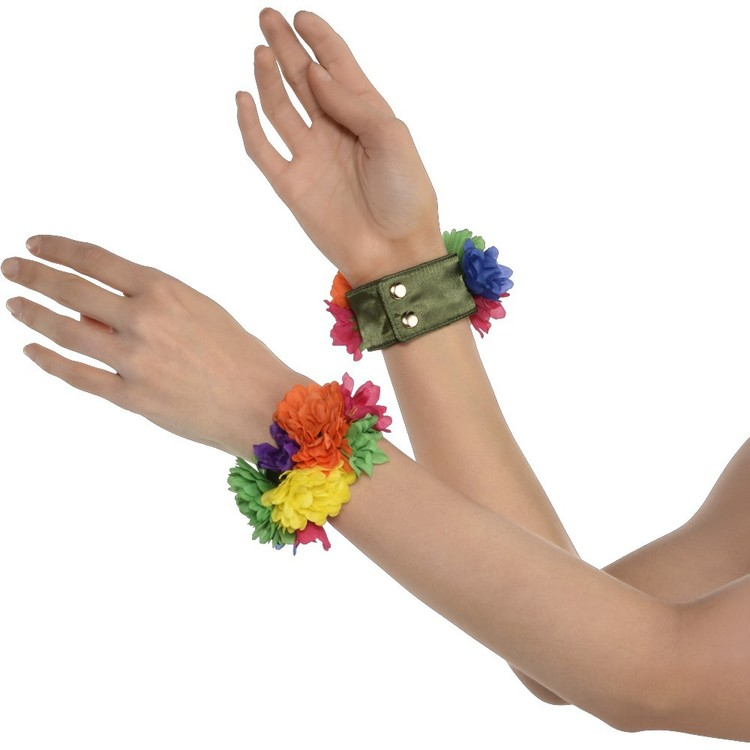 Amscan Groovy 60'S Floral Wristlets Multicoloured
