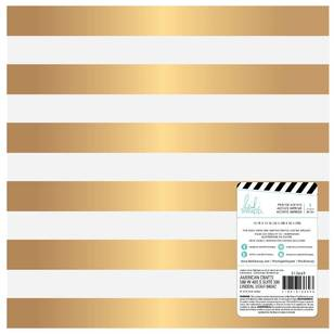American Crafts Design Heidi Swapp Magnolia Jane Gold Stripe Paper