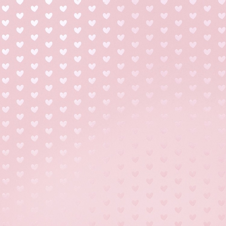 American Crafts Design Peony Heart Cardstock With Foil Accents