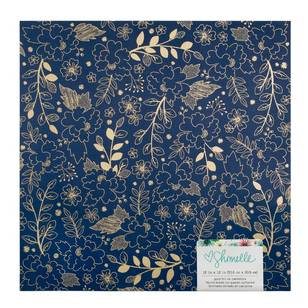 American Crafts Design Small Floral Gold Foil Paper