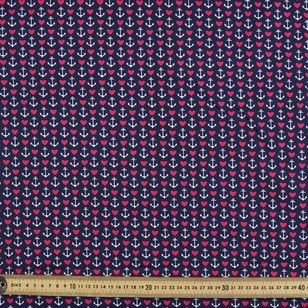 Gertie Anchors Border Printed Poplin Fabric