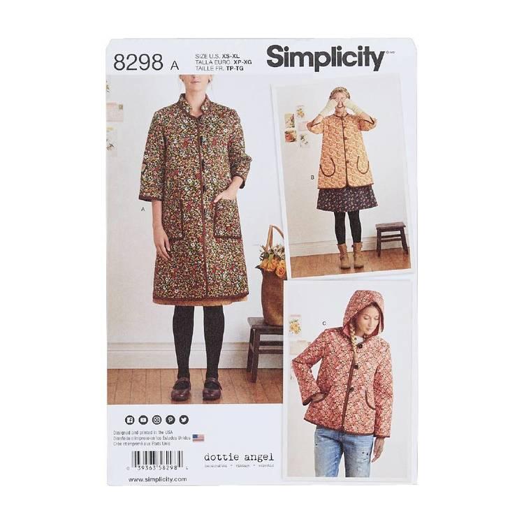 Simplicity Pattern 8298 Coat & Jacket