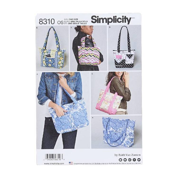 Simplicity Pattern 8310 Quilted Bags