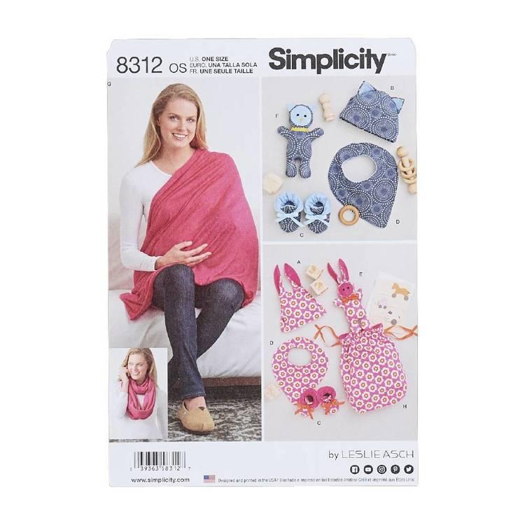 Simplicity Pattern 8312 Gifts & Nursing Shawl