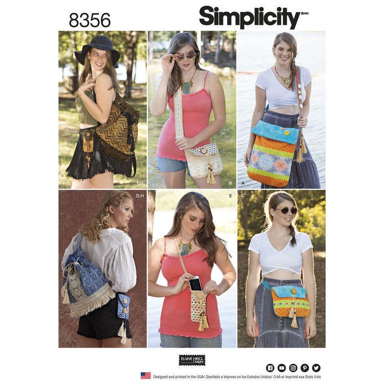 Simplicity Pattern 8356 Festival Bags