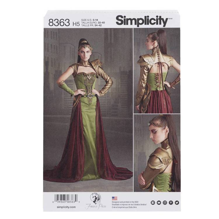 Simplicity Pattern 8363 Fantasy Ranger Costume