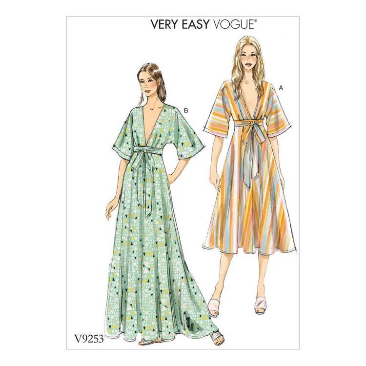 Vogue Pattern V9253 Kimono-Style Dresses