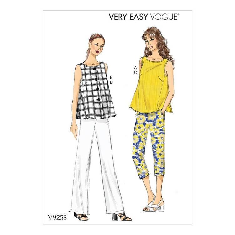 Vogue Pattern V9258 Tops & Pants