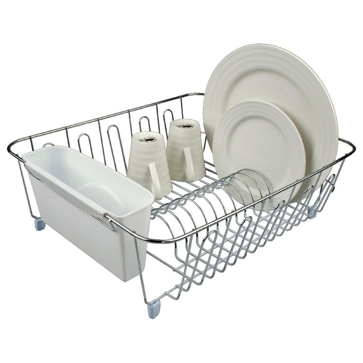 D.Line Large Dish Drainer With Caddy White Large