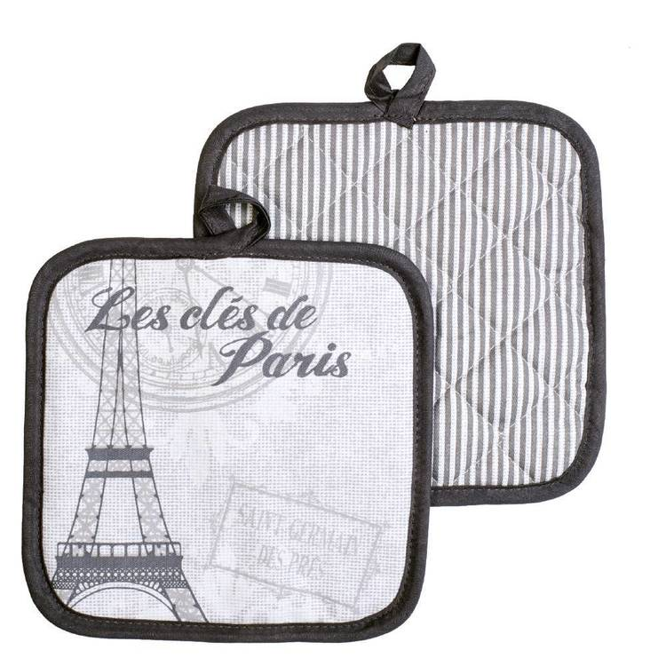 Kitchen By Ladelle Keys To Paris Pot Holders