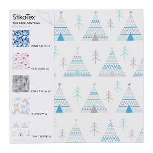Stikatex Kids Printed Fabric Adhesive Sheet