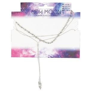 Ribtex New Moon Layered Necklace