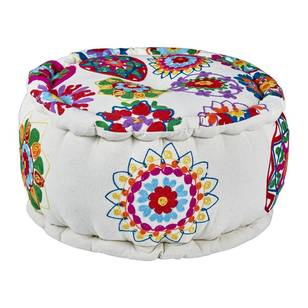 Living Space Bazaar Embroidered Ottoman