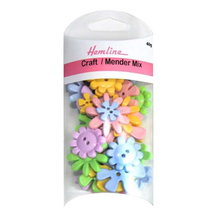 Hemline Flower Novelty Buttons