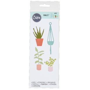 Sizzix Thinlits Coastal Pot Tropicals Die Set