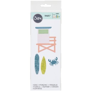 Sizzix Thinlits Coastal Surfs Up Die Set