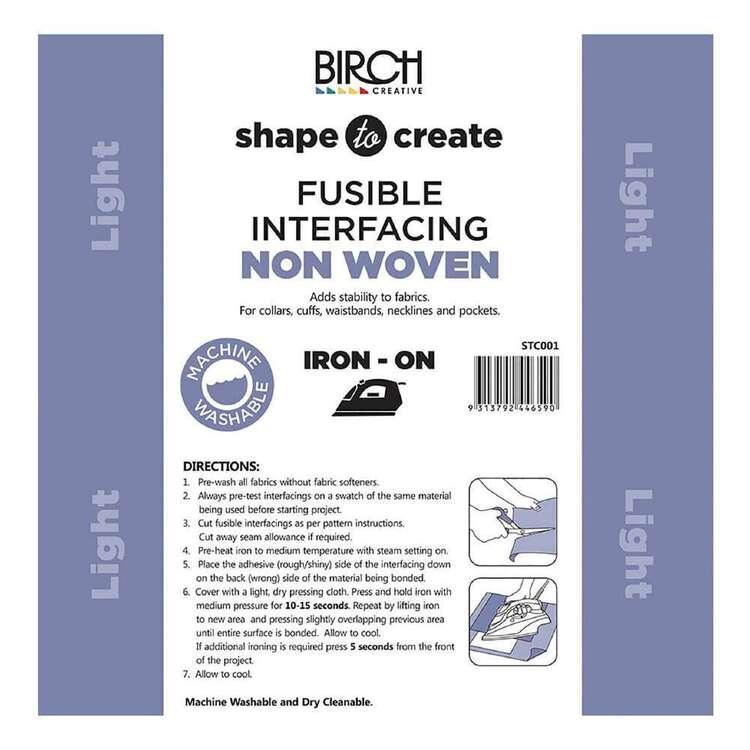 Shape To Create Light Non Woven Interfacing Iron On
