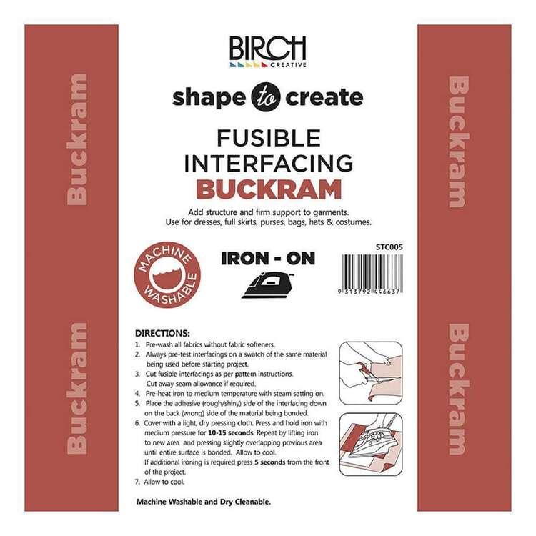 Shape To Create Firm Buckram Interfacing Iron On