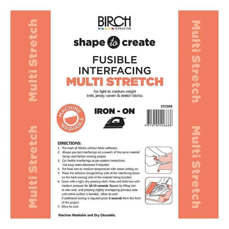 Shape To Create Soft Multi Stretch Interfacing Iron On