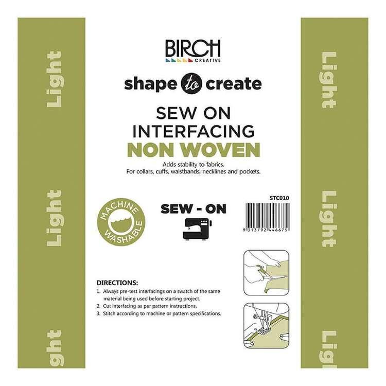 Shape To Create Light Non Woven Interfacing Sew On