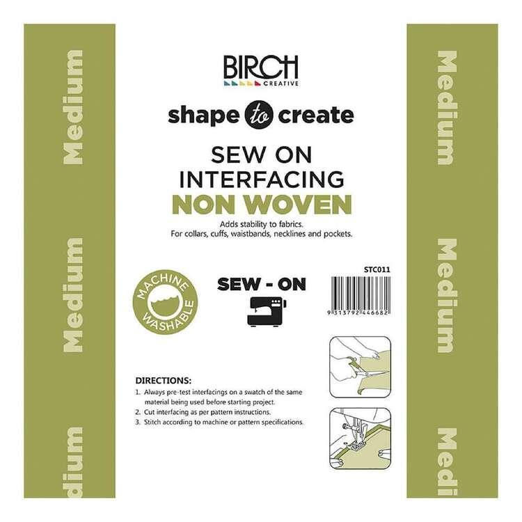 Shape To Create Medium Non Woven Interfacing Sew On