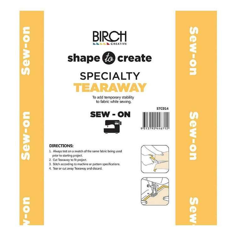 Shape To Create Medium Tear Away Sew On