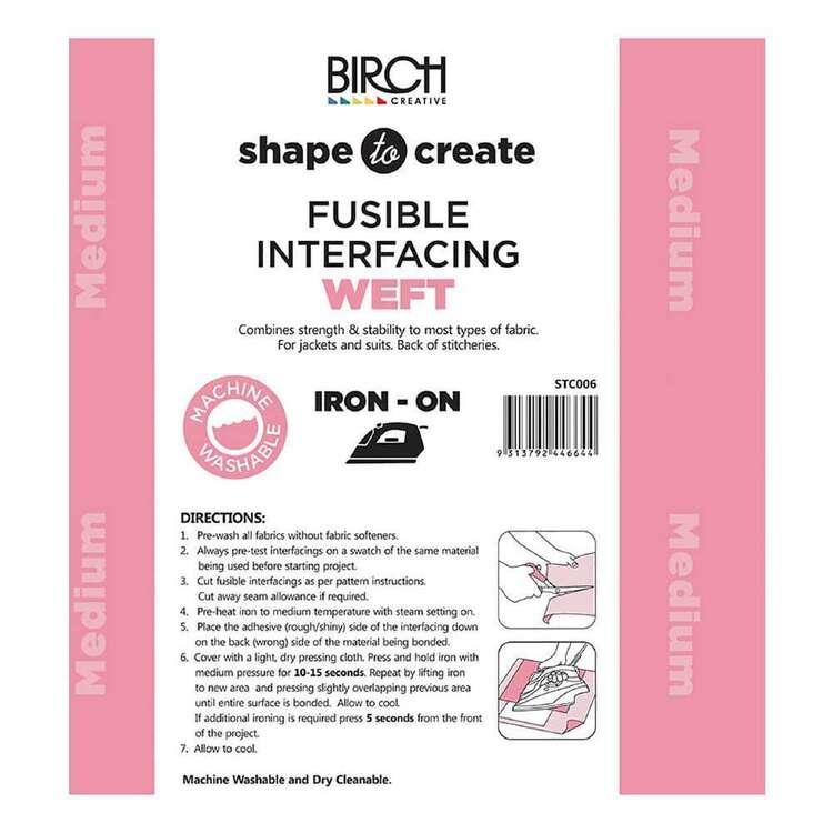 Shape To Create Medium Weft Interfacing Iron On