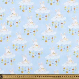 Bunny Cloud Printed Flannelette