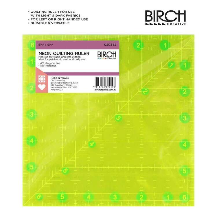 Birch Fluro Square Quilt