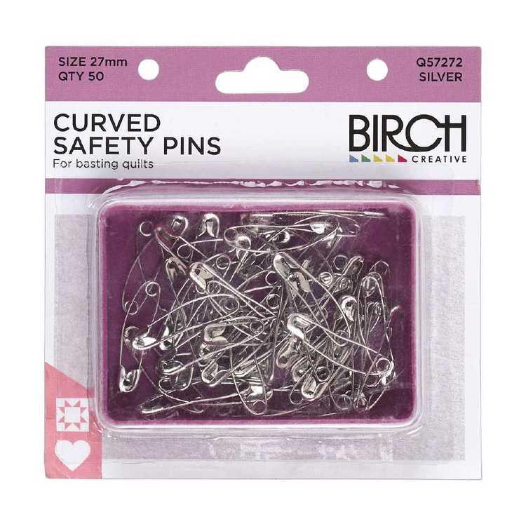 Birch Curved Safety Pins