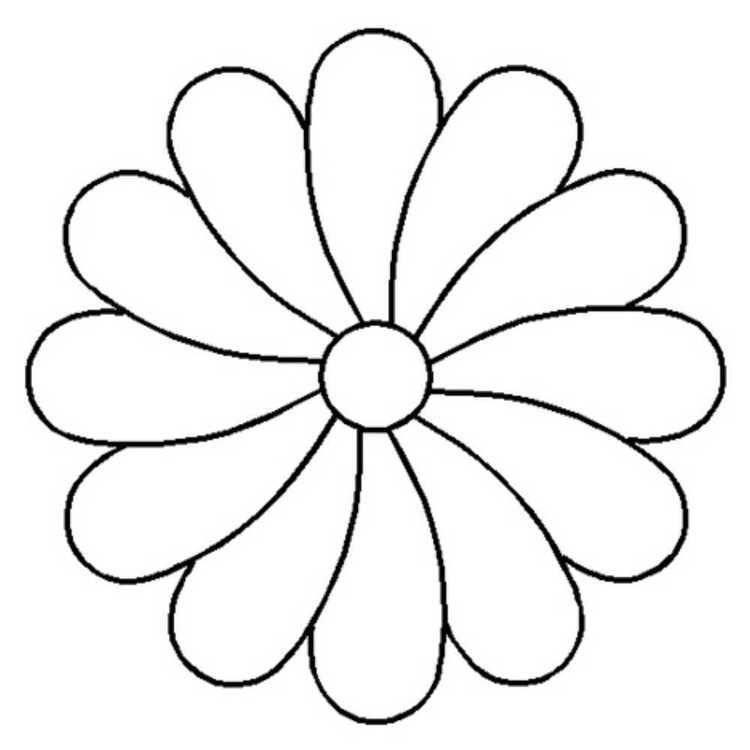 Birch Flower Quilting Machine Stencil