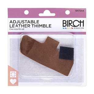 Birch Adjustable Leather Thimble