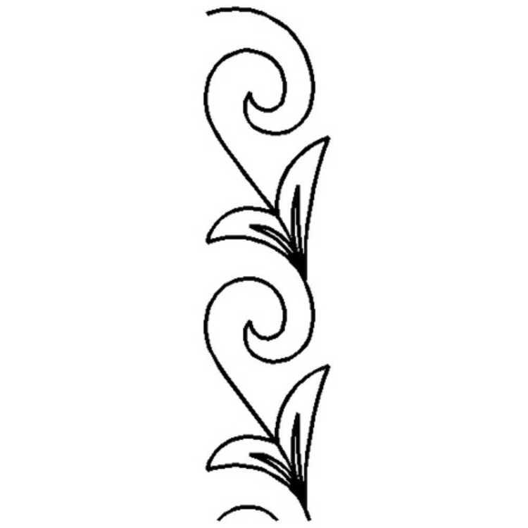 Birch Vine Quilting Machine Stencil