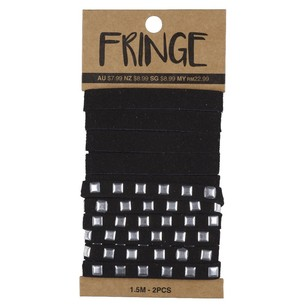 Ribtex Fringe Suede Plain and Square Studs