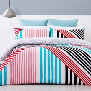 Brampton House Stripe Mania Quilt Cover Set - Everyday Bargain