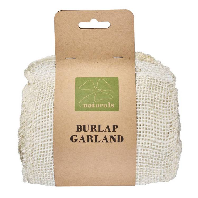 Shamrock Naturals 5 M Burlap Garland
