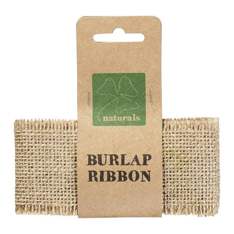 Shamrock Naturals 1 M Burlap Ribbon Natural 1 mm