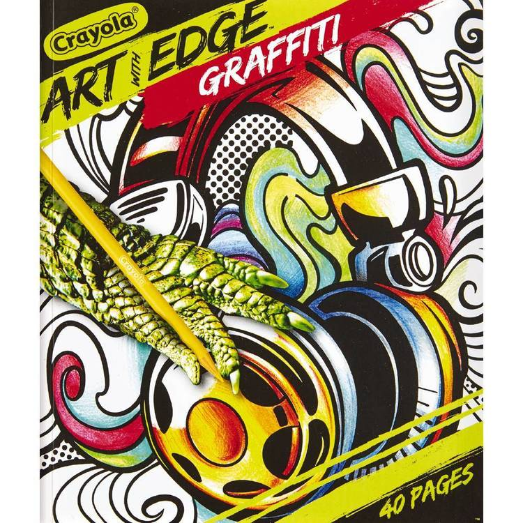 Crayola Art With Edge Book Graffiti Collection Multicoloured