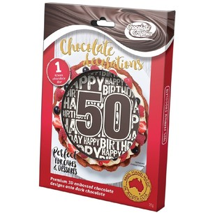 Chocolate Graphics Happy Birthday Milestones 50Th Centre Piece