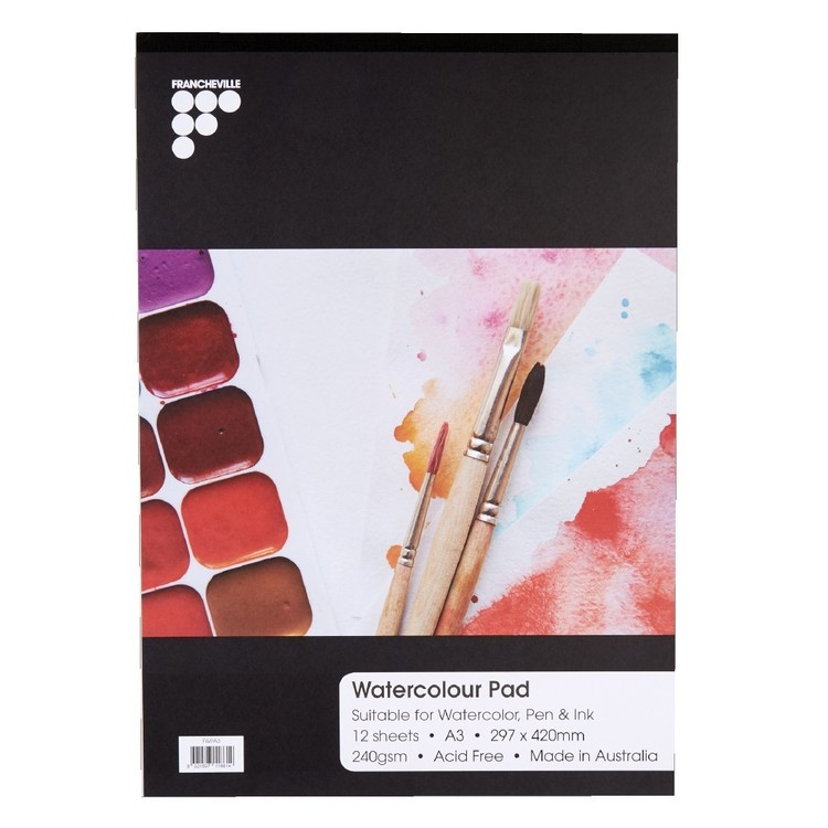 Francheville Sketch And Watercolour Art Pad White