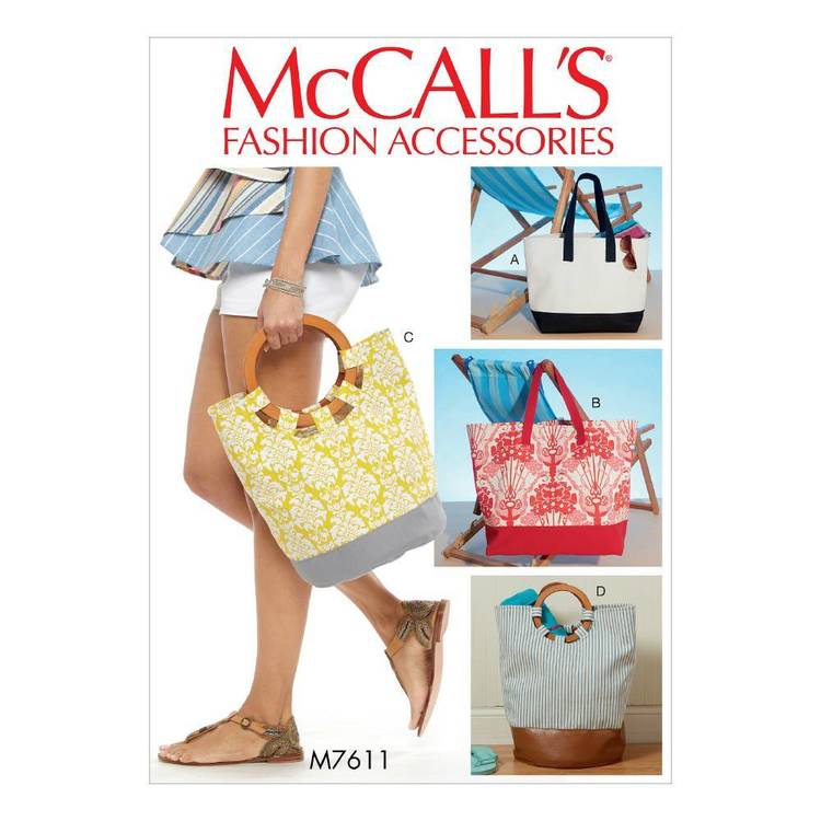 McCall's Pattern M7611 Tote Bags