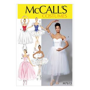 McCall's Pattern M7615 Ballet Costumes