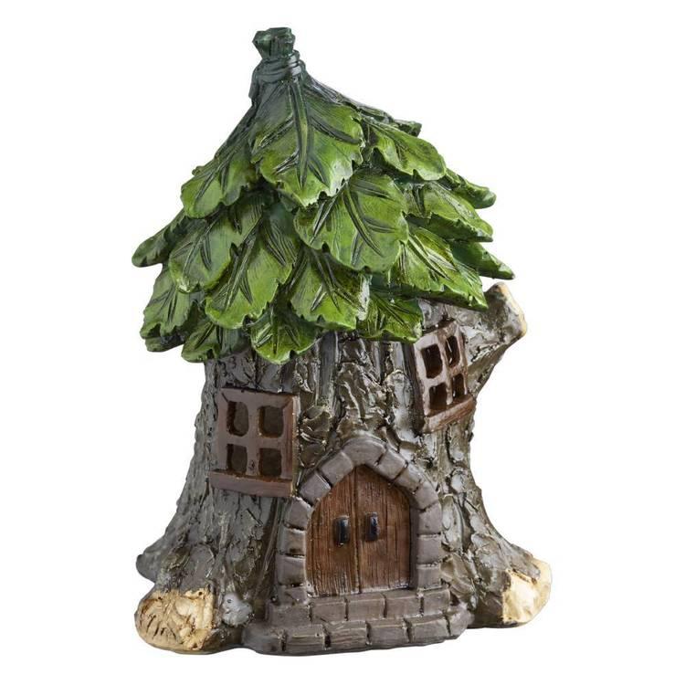 Fairy Garden Fairy Forest Log Tree House Figurine