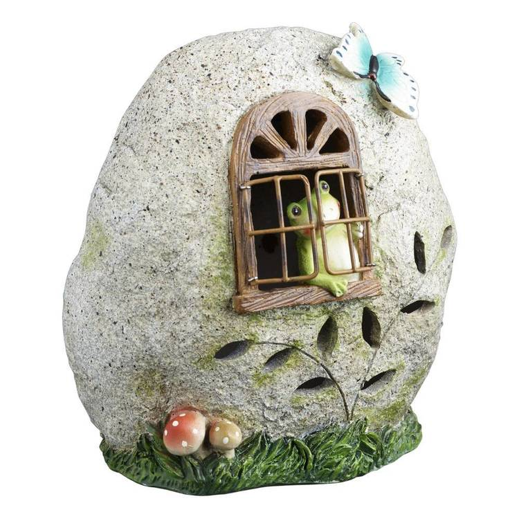 Fairy Garden Froggy's Stone House Figurine