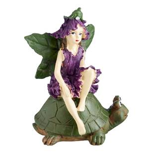 Fairy Garden Fairy on Turtle Figurine