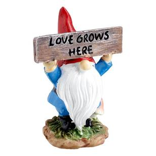 Fairy Garden Love Grows Here Gnome Figurine