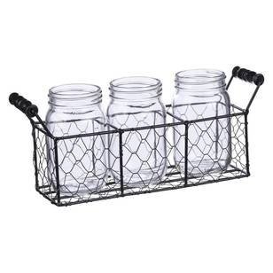Francheville Mason Jar Wire Tray Set